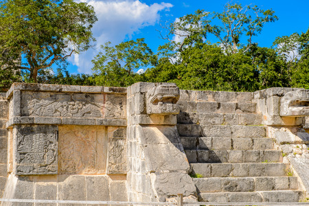 Venus Platform, Chichen Itza, Tinum Municipality, Yucatan State. It was a large pre-Columbian city built by the Maya people of the Terminal Classic period. UNESCO World Heritage
