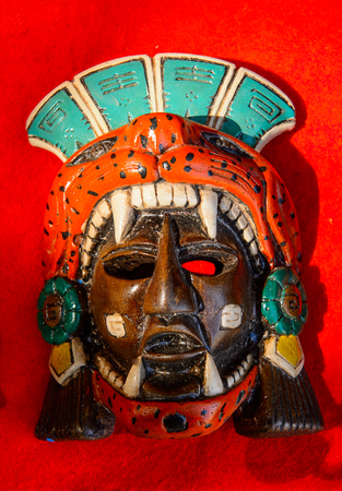 Mask, Authentic handcraft souvenirs of maya civilisation