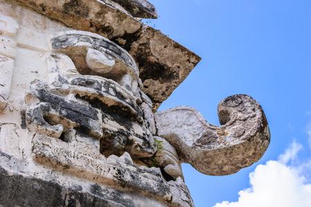 Chaac statue in Chichen Itza, Mexico Stock Photo