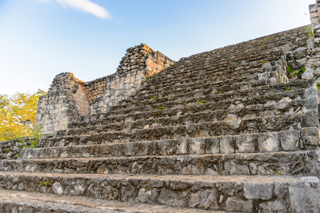 Part of the Ek Balam complex, a Yucatec-Maya archaeological site,  Temozon, Yucatan, Mexico. It was the seat of a Mayan kingdom from the Preclassic until the Postclassic period