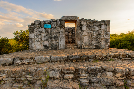 yucatan: Part of the Ek Balam complex, a Yucatec-Maya archaeological site,  Temozon, Yucatan, Mexico. It was the seat of a Mayan kingdom from the Preclassic until the Postclassic period