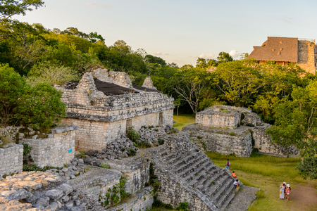 archaeological sites: Part of the Ek Balam complex, a Yucatec-Maya archaeological site,  Temozon, Yucatan, Mexico. It was the seat of a Mayan kingdom from the Preclassic until the Postclassic period