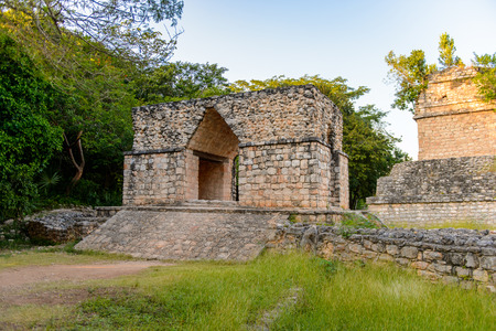 yucatan: Entrance arch, Ek Balam, a Yucatec-Maya archaeological site,  Temozon, Yucatan, Mexico. It was the seat of a Mayan kingdom from the Preclassic until the Postclassic period