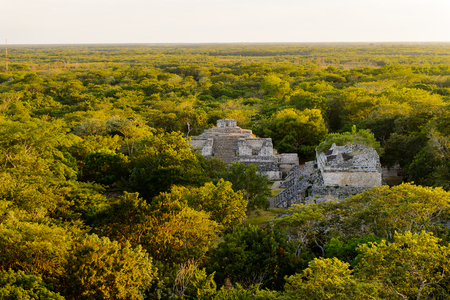 Ek Balam in the Jungle, a Yucatec-Maya archaeological site,  Temozon, Yucatan, Mexico. It was the seat of a Mayan kingdom from the Preclassic until the Postclassic period