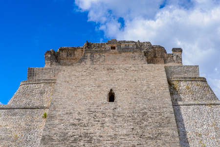 yucatan: Pyramid of the Magician,  a Mesoamerican step pyramid, Uxmal, an ancient Maya city of the classical period. UNESCO World Heritage site