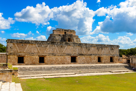 archaeological sites: Building of The Nunnery, Uxmal, an ancient Maya city of the classical period. One of the most important archaeological sites of Maya culture. UNESCO World Heritage site