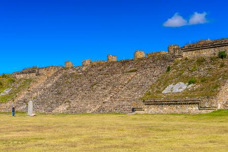 archaeological sites: North Platform, Monte Alban, a large pre-Columbian archaeological site, Santa Cruz Xoxocotlan Municipality, Oaxaca State.  UNESCO World Heritage