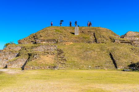 North Platform, Monte Alban, a large pre-Columbian archaeological site, Santa Cruz Xoxocotlan Municipality, Oaxaca State.