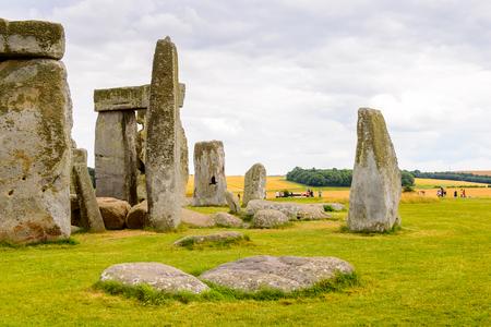 druid: Stonehenge, a prehistoric monument in Wiltshire, England. UNESCO World Heritage Sites