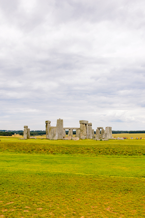 Beautiful view of the Stonehenge, a prehistoric monument in Wiltshire, England. UNESCO World Heritage Sites Stock Photo