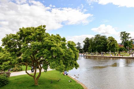 Park in Stratford on Avon, England Stock Photo