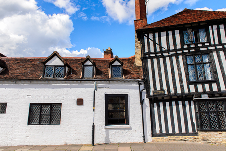 Half-timbered house of Stratford Upon Avon, a market town in Warwickshire, England