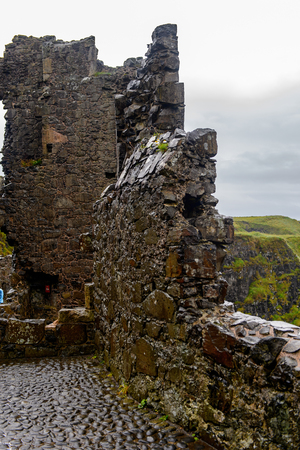 Dunluce Castle, a medieval castle in Northern Ireland.
