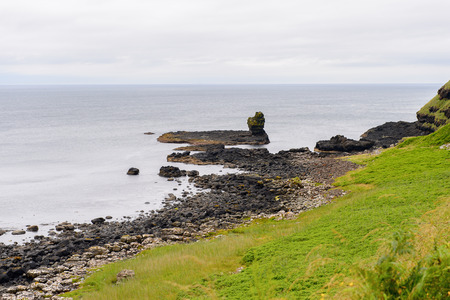 irish countryside: Giants Causeway and Causeway Coast, the result of an ancient volcanic eruption