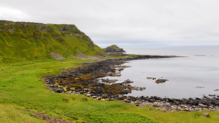 irish countryside: Giants Causeway and Causeway Coast, the result of an ancient volcanic eruption UNESCO World Heritage Site