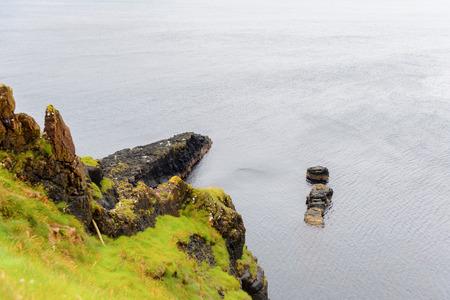 巨人堤とコーズウェイコーストの自然、古代火山噴火の結果 写真素材