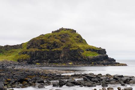 巨人堤とコーズウェイコーストの壮観な景色、古代の火山噴火の結果 写真素材