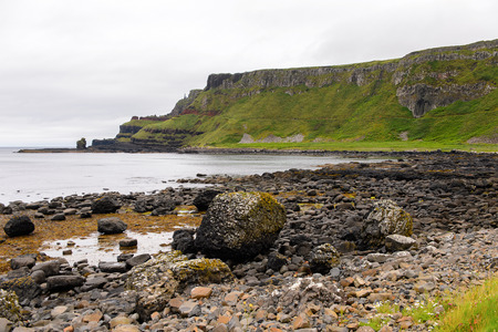 irish countryside: Spectacular view of the Giants Causeway and Causeway Coast, the result of an ancient volcanic eruption UNESCO World Heritage Site