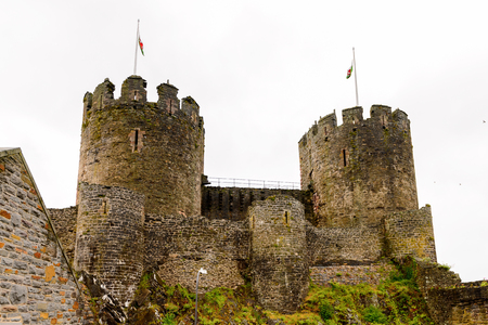 Tower of the Conway Castle is a medieval fortification in Conwy, Wales, UNESCO World Heritage site