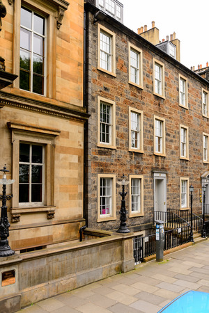 scottish culture: Architecture of Edinburgh, Scotland. Old Town and New Town are a UNESCO World Heritage Site Stock Photo