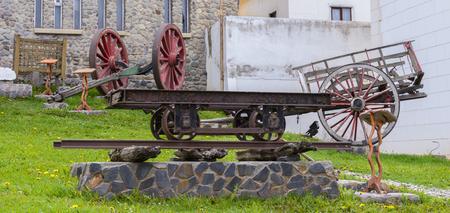 Railway carriage monument Stock Photo