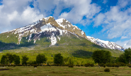 Landscape of the Tierra del Fuego National Park,  Argentina