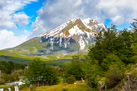 traquility: Mountain on the south of Argentina, Tierra del Fuego