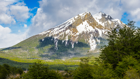 Mountain on the south of Argentina, Tierra del Fuego