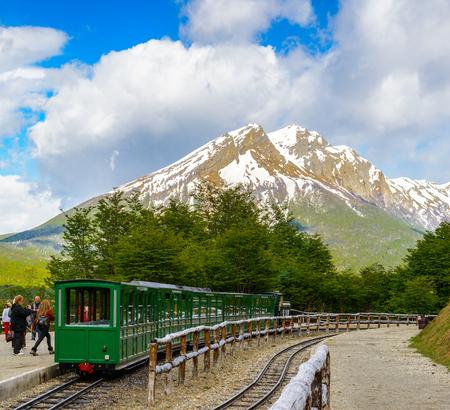traquility: Southern Fuegian Railway, Ushuaia, Argentina Stock Photo