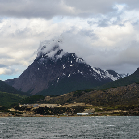 Beagle Channel, a strait in the archipelago island chain of Tierra del Fuego on the extreme southern tip of South America partly in Chile and partly in Argentina