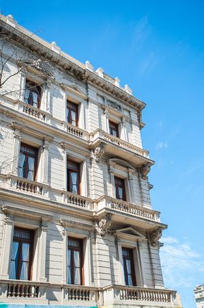 Building on the Avenida de Mayo (May avenue) in Buenos Aires. The consturction was inspired by Mayor Torcuato de Alvear, work began in 1885