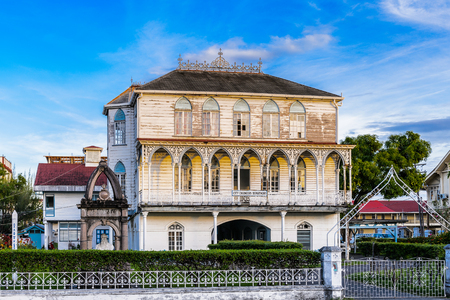Colonial building in Georgetown, capital of Guyana, South America Stock Photo
