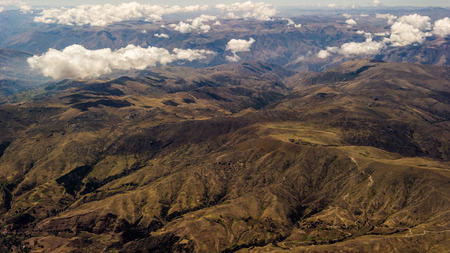 desolacion: Beautiful landscape from the air of the mountains in Peru