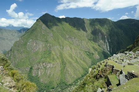 Machu Picchu, a pre-Columbian 15th-century Inca site located 2,430 metres above sea level. Cusco Region of Peru, South America.