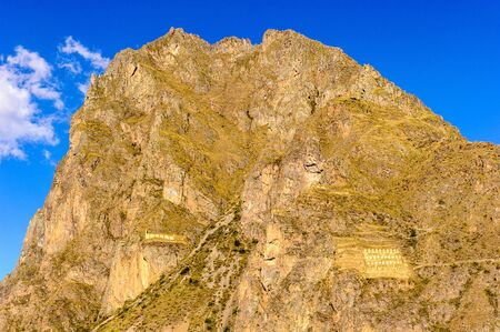 Beautiful landscape of the rocks in Peru Stock Photo