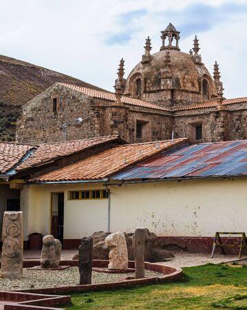 Igreja e mosteiro de Santo Domingo, Peru Foto de archivo - 84644166