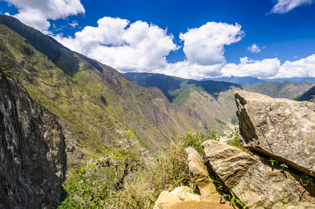 Nature of the Peruvian Andes Stock Photo