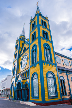 Saint Peter and Paul Cathedral, a wooden Roman Catholic cathedral, Historic Inner City of Paramaribo, Reklamní fotografie - 84754735