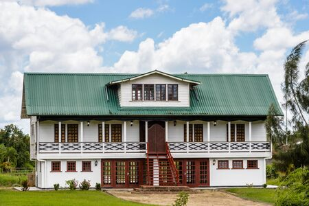 Architecture and nature of Nieuw Amsterdam, Suriname