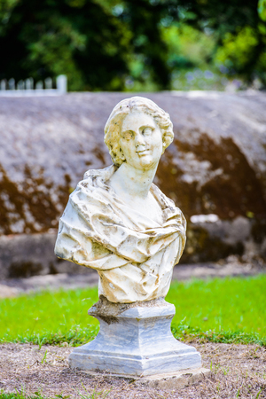 Sculpture in the Fort Nieuw Amsterdam, SUriname Stock Photo