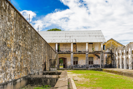 Yard in the Prison in Saint Laurent du Maroni, French Guiana, South America