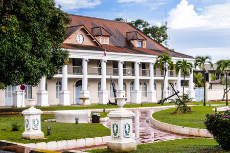 Prefecture, residence of French Guianas Prefect, in Cayenne, French Guiana. 版權商用圖片
