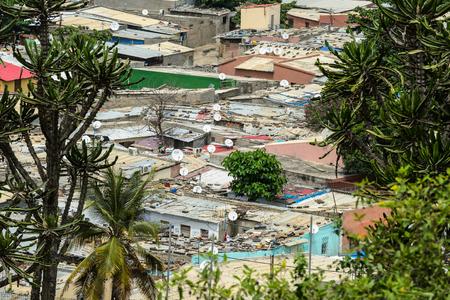 Living place in Angola, Luanda Standard-Bild