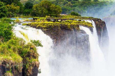 Beautiful view of the Victoria Falls, Zambezi River, Zimbabwe and Zambia