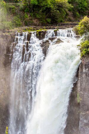 Amazing view of the Victoria Falls, Zambezi River, Zimbabwe and Zambia Stock Photo