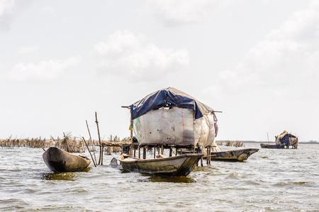 Hay transportation way in Benin, Africa