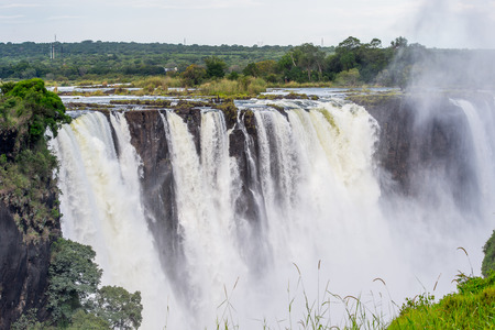 zimbabwe: Amazing view of the Victoria Falls, Zambezi River, Zimbabwe and Zambia Foto de archivo