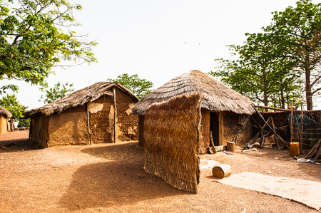 Houses in Ghana where the poor people live in Stock Photo
