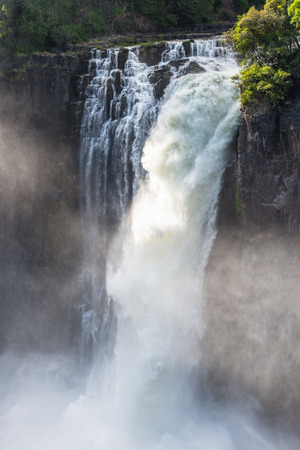 Spectacular view of Victoria Falls, Zambezi River, Zimbabwe and Zambia Stock Photo