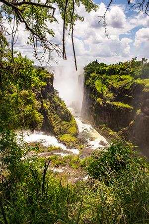 Zambezi river near the Victoria Falls, boarder of Zambia and Zimbabwe.